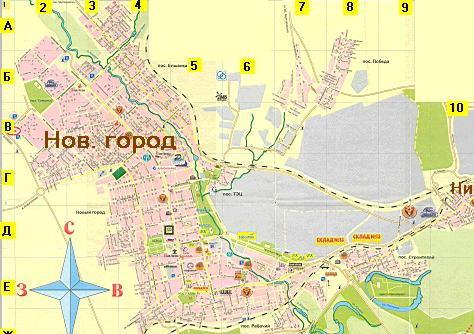 Карта-схема города Орска