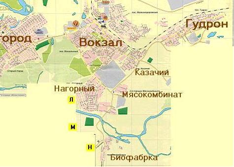 Карта Орска.
